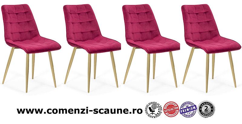 set-4-scaune-pentru-bucatarie-din-catifea-pe-cadru-auriu-culoarea-visiniu