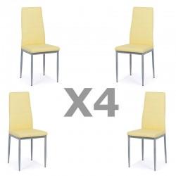 Set 4 scaune bucatarie-crem
