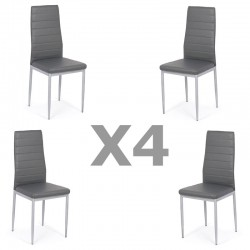 Set 4 scaune bucatarie-gri
