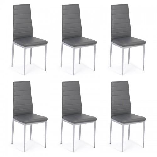 Set 6 scaune de bucatarie din piele ecologica-BUC263