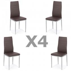 Set 4 scaune bucatarie-maro