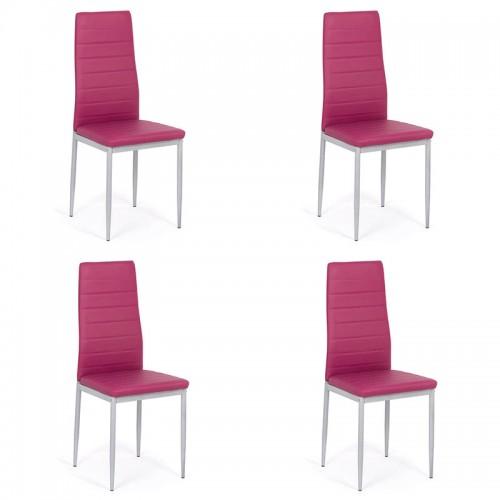 Set 4 scaune de bucatarie din piele ecologica mov-BUC263