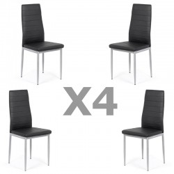 Set 4 scaune bucatarie-negru