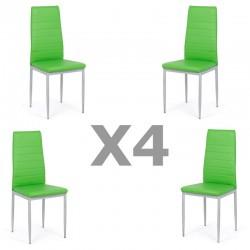Set 4 scaune bucatarie-verde