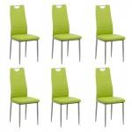 Set 6 scaune de bucatarie din piele ecologica in 4 culori