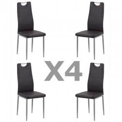Set 4 scaune de bucatarie din piele eco 4 culori