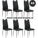 Set 6 scaune de bucatarie din piele eco 4 culori