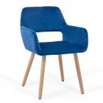 Scaun de bucatarie si relaxare pe culoarea albastru