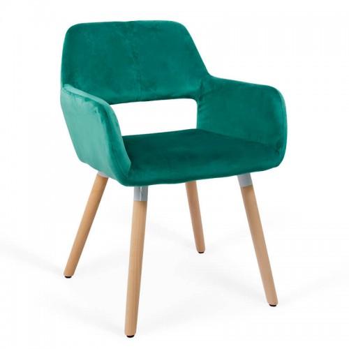 Scaun de bucatarie si relaxare pe culoarea verde