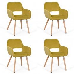 Set 4 scaune pentru bucatarie si relaxare-4culori