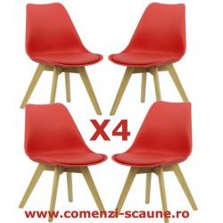 Set 4 scaune de living in stil scandinav