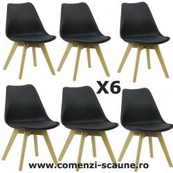 Set 6 scaune de living in stil scandinav