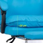 Scaun de birou comod si rezistent pe culoarea albastru