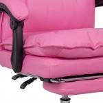 Scaun de birou comod si rezistent pe culoarea roz