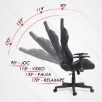 Scaun ergonomic pentru birou si gaming iluminat cu LED-RGB