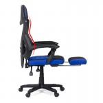 Scaun gaming rosu-negru cu suport de picioare - OFF304-Gaming