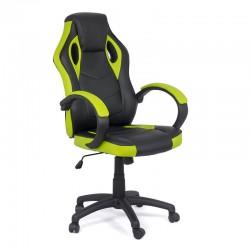 Scaune de gaming cu design modern pe culoarea negru cu verde