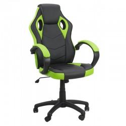 Scaun de birou si gaming pe culoarea verde cu negru