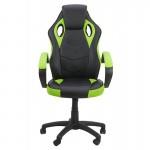 Scaun de birou și gaming pe culoarea verde cu negru