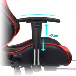 Scaune de gaming cu spatar rabatabil si suport de picioare