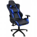 Scaun de gaming ergonomic și confortabil-negru cu albastru