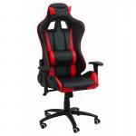 Scaun de gaming ergonomic și confortabil-negru cu rosu