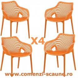 Set 4 scaune suprapozabile pentru diferite utilizari