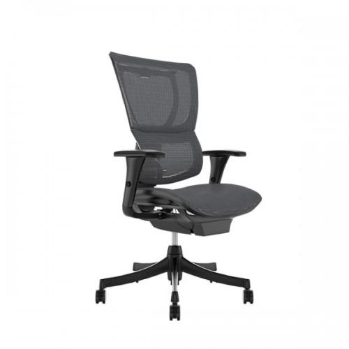 Scaun ergonomic rotativ PM gri