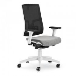 Scaun ergonomic confortabil si relaxant-PURE WHITE MESH