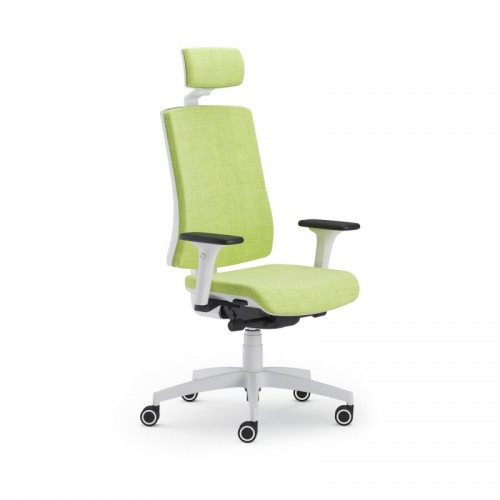 Scaun ergonomic confortabil si relaxant-PURE WHITE T PDH