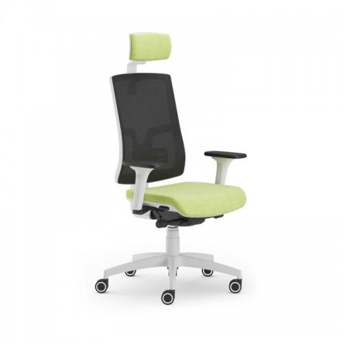 Scaun ergonomic confortabil si relaxant-PURE WHITE MESH PDH