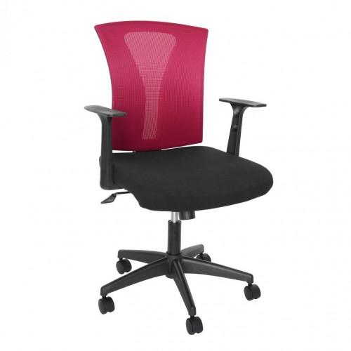 Scaun birou ergonomic rotativ bordo cu negru