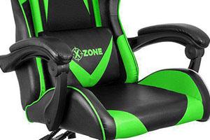 Scaune de gaming si birou din piele pe culoarea negru cu verde