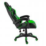Scaun de gaming și birou din piele pe culoarea negru cu verde-Xzone CGR-01
