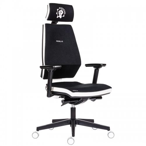 Scaun de gaming si birou tip manager rezistente si confortabile-Model 42 Black and White