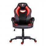 Scaun de gaming și birou confortabil din piele-Raptor Black and Red