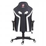 Scaun de gaming și birou elegant și robust din piele-Venom Black and White
