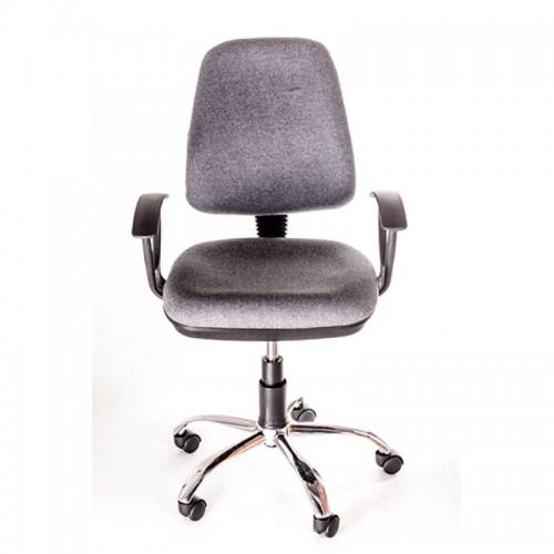 Scaun operational pentru birou tapitat cu material textil gri