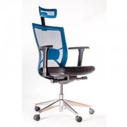 Scaun ergonomic pentru birou negru cu albastru-356