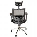 Scaun ergonomic pentru birou negru cu gri-383