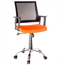 Scaun pentru birou cu sezut textil si spatar din mesh