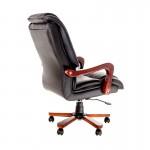 Fotoliu directorial ergonomic rezistent cu baza și brate din lemn