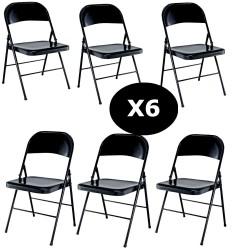 Set 6 scaune metalice pliabile 3C