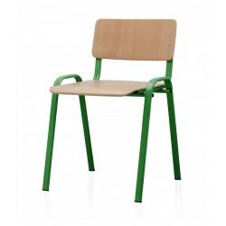 Scaun pentru elevi cadru verde