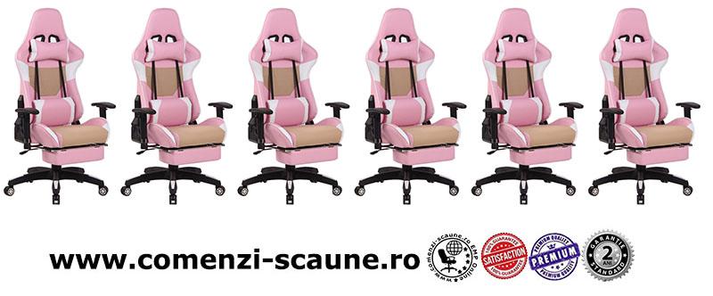 Scaune de gaming cu suport de picioare pe culoarea roz-6