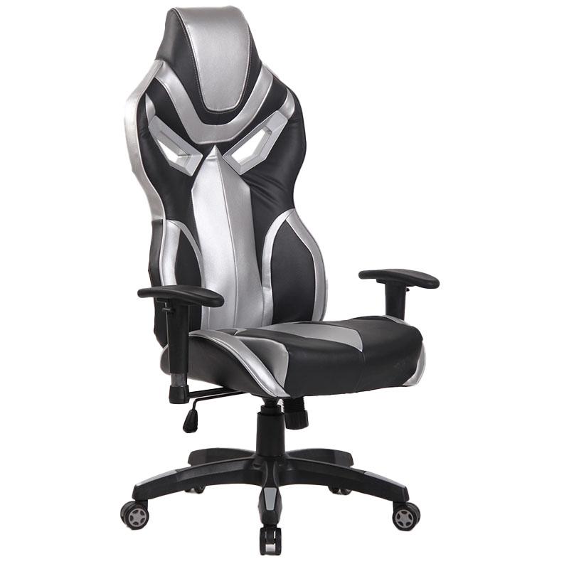 Scaun de gaming cu spătar ergonomic pe culoarea gricu negru-8191-1