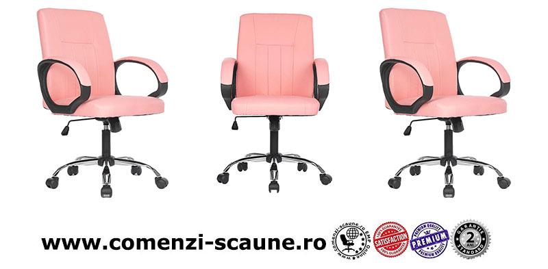 5 modele de scaune pentru birou si gaming pe culoarea roz-pink office