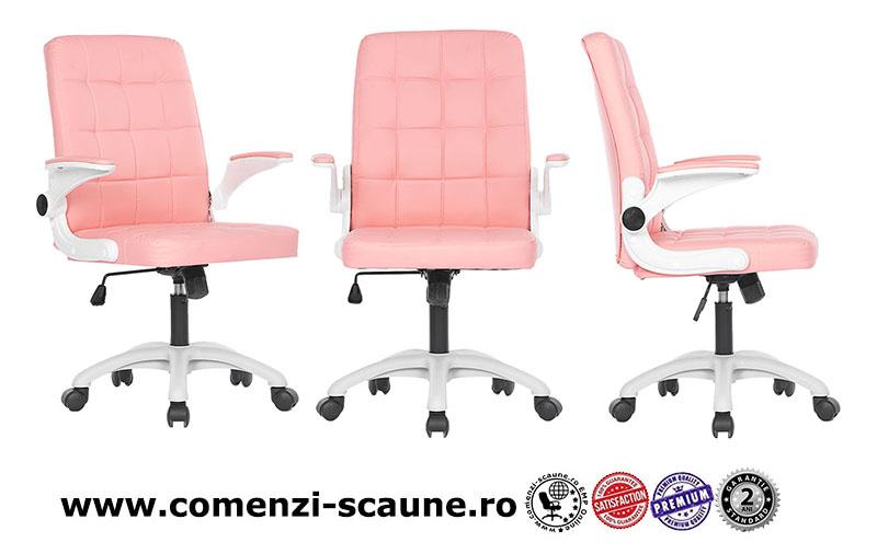scaun-de-birou-din-piele-ecologica-pe-culoarea-roz