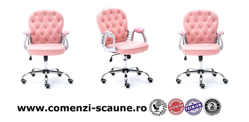 5 modele de scaune pentru birou si gaming pe culoarea roz-pink elegante