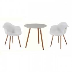 Set masa cu 2 scaune alb